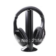 5 in 1 HIFI Wireless headphone Earphone Headset wireless Monitor FM radio for MP4 PC TV audio,free shipping(China (Mainland))