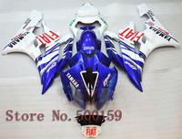 For Yamaha YZFR6 2006 2007 FIAT blue white  06 07 R6 YZF YZF-R6 06 07 ABS Fairing Set Plastic Kit 02