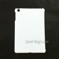 Free Shipping! DIY 3D Sublimation Hard Blank White Cases for ipad mini