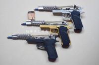 Matches gun gunstar chain gun metal frame material m1911 spring rubber band two-site