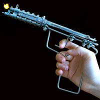 Classic nostalgic vintage handmade toys gunstar 70 after child stainless steel chain gun matches gun chain gun