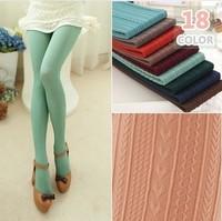 P94 Autumn 160D Multicolour Fashion Women's Pantyhose Vertical Striped Llove Heart Wheat High Elastic Velvet Skinny Tights 18C
