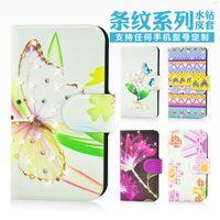 Wholesale,Shine colorful design Flower bling diamond leather flip case cover for Lenovo S650