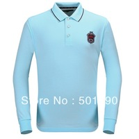 Free Shipping Quick Dry Material  Active Men's Golf T-shirt with long sleeves