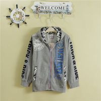 2014 free shipping Children's clothing fleece male big boy autumn cardigan zipper sweatshirt 140 - 160