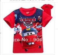 new HOT Cartoon Brand baby clothing 6 pcs/lot Boy T Shirt Kids Children Tops Summer fashion Short Sleeve Clothing Free Shipping