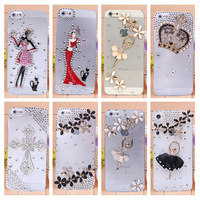 Promotions Diamond Case For Apple Iphone 5 5s Iphone 4 4s,New Arrival Rhinestone  Hard Back Skin Mobile phone Case Shell