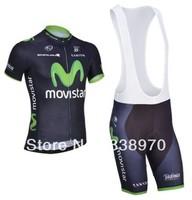 High quality! 2014 movistar cycling jersey bike short sleeve and bicicleta bib shorts/ ciclismo clothing set SA#001