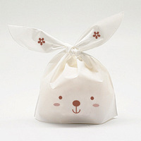 Cute Rabbit Plastic Bag ,candy, biscuit bag 95pcs/lot