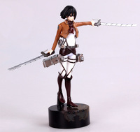 Free Shipping!Japanese Anime Attack on Titan Shingeki no Kyojin Mikasa Ackerman 14CM PVC Action Figure Model Toy Doll Gift