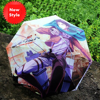 Free Shipping!Japanese Anime Attack on Titan Shingeki no Kyojin Rivaille Cosplay Umbrella High Quality Sunny/Rainy Umbrella