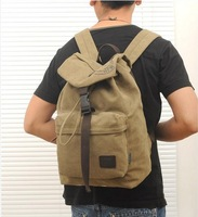 2014 new mochila de lona canvas computer bag Korean version men and women casual canvas backpack satchel College Wind