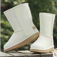 2013 winter snow boots female boots medium-leg slip-resistant waterproof thickening thermal cow muscle 40 outsole