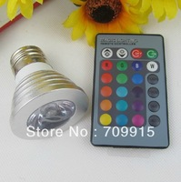 Low price new AC85-265V 5W RGB led lighting Colorful E27/GU10/B22/GU5.3  LED Spot light with Remote Control multiple colour