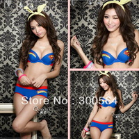 Free Shipping! Superman Push Up Bra Sexy Fashion Cartoon Underwear Bra Set, 100% Cotton Underwear Set Comfortable Bra WSB918
