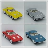 KINSMART 1:36 Chevrolet Corvette 1963 Alloy car model Pull Back Toy Car