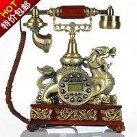 Blue screen lucky pi xiu antique telephone fashion phone vintage telephone with caller id gift