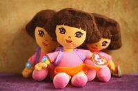 Free shipping US TY dora the explorer plush toy dora doll soft toy girl toys gift 1 piece