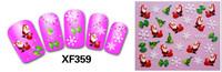 XF series Free Shipping sell 3d XF359-382 hello kitty professional nail art 3d nail sticker