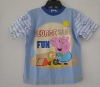 Peppa pig george pig geroge pig blue T-shirt short-sleeve top