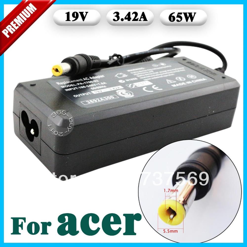 Адаптер ноутбука New Brand 19V 3.42a 65W 100/240v AC ACer 19V 3.42A brand new 10 65