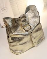 2014 new leather Europe and America burst embossed leather Bucket Bag Messenger Shoulder leather handbags--ASTB0005