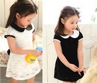 2014 summer baby children's wear Lace princess dress girl Doll brought leisure fair maiden dress kids wear