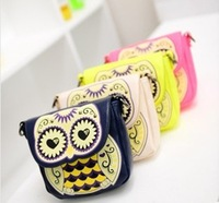 women cute small mini animal handbag cartoon owl shoulder bags candy messenger Printing bag