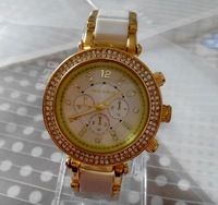 diamond jewelry rhinestone menwatch, white plastic mix stell watch woman dress watch fashion watch factory outlets center