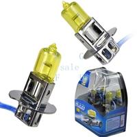 Super Yellow 3K 100W H3 Xenon Car Fog Headlight Halogen Light Gas Lamp Bulbs DC 12V 2860