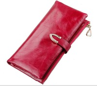 Hot sale!! Genuine leather women wallets 100% cowhide money clips day clutch wallet purse burse card bag free shipping