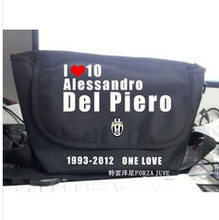 Juventus black backpack shoulder bag school bag messenger bag fans supplies(China (Mainland))