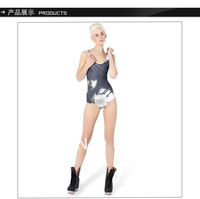 New Superior Quality Vintage Sexy Beauty Print One Piece Swim Suits For Women LT037