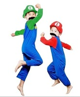 Halloween Cosplay Costume for child super mario costumes party decorations supply Infantil fantasia Pelicula