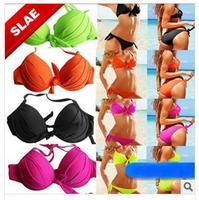 Women Bikini set 2014 push up Swimwear dress VS Brand Sexy Good Quality Swimsuit 2014  New Arrival gift !