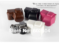 Wholesale! camera bag cover bag imitation leather case for Sony NEX-5R NEX5R NEX-5T NEX5T (16-50mm) camera case PU leather bag