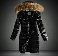 Free shipping women 2013 new fashion brand winter women's winter jacket woolrich down coat women long fur wool fashion