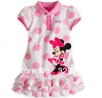 2013 Fashion Girl Clothing Minnie Mouse Kids Girls' Dress Princess Cupcake Baby Dresses Children's Wear