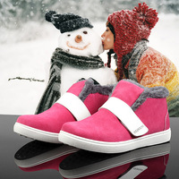 New arrival 2013 autumn and winter boots genuine leather trophonema thermal snow shoes female shoes low-top velcro female shoes