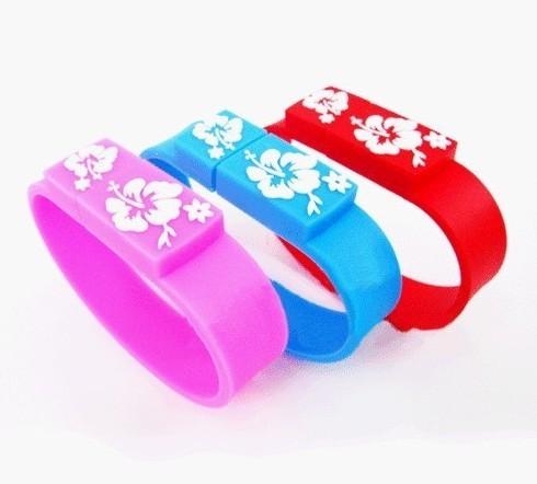 High quality latest Real capacity Wrist strap 1GB-32GB usb flash memory drive free shipping 5 colors UB128(China (Mainland))