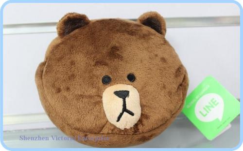 10PCS Original Apple LINE Bears Cosmetics Makeup Bag & Case Pouch ; Phone BAG Case Pouch ; COIN Case BAG Storage BAG Holder(China (Mainland))