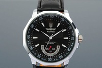 SG post or HK post WHOLESALE MECHANICAL AUTOMATIC BLACK DIAL DATE LEATHER MEN WRIST SPORT WATCH