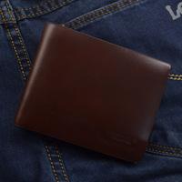 Free Shipping!fashion mens wallets Male genuine leather wallet horizontal wallet h011055-1 gift box,purse men,men's bag