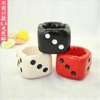 Fashion bosons ashtray ceramic dice ashtray cool KC302