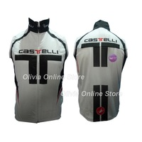 2012 castelli white Bicycle sleeveless Jacket / 2012 castelli Cycling windbreaker vest / 2012 castelli cycling vest