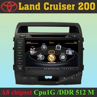 Car DVD Player Radio GPS Navigation Stereo for Land Cruiser 200  + 3G WIFI + V-20 Disc + 1GB cpu + DDR 512M RAM + A8 Chipset
