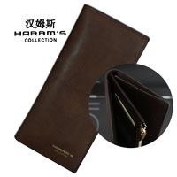 2014 fashion brand long design genuine leather zipper mens wallet,purse mens,men's bag,coin case,card holder