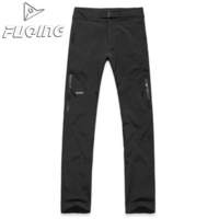 Fuqing fleece outdoor trousers male Women waterproof thermal soft shell pants KC309