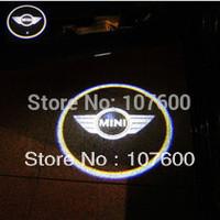2pcs Car logo Shadow light for MINI The 2nd gen DC12 9W  LED Car Door Welcome Light Laser Lights with car logo Shadow light