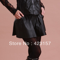 2014 Genuine Sheepskin Skirt Sexy Lace Pantskirt For Women Fashion Sheep Skin Skirt Free Shipping ZX0521